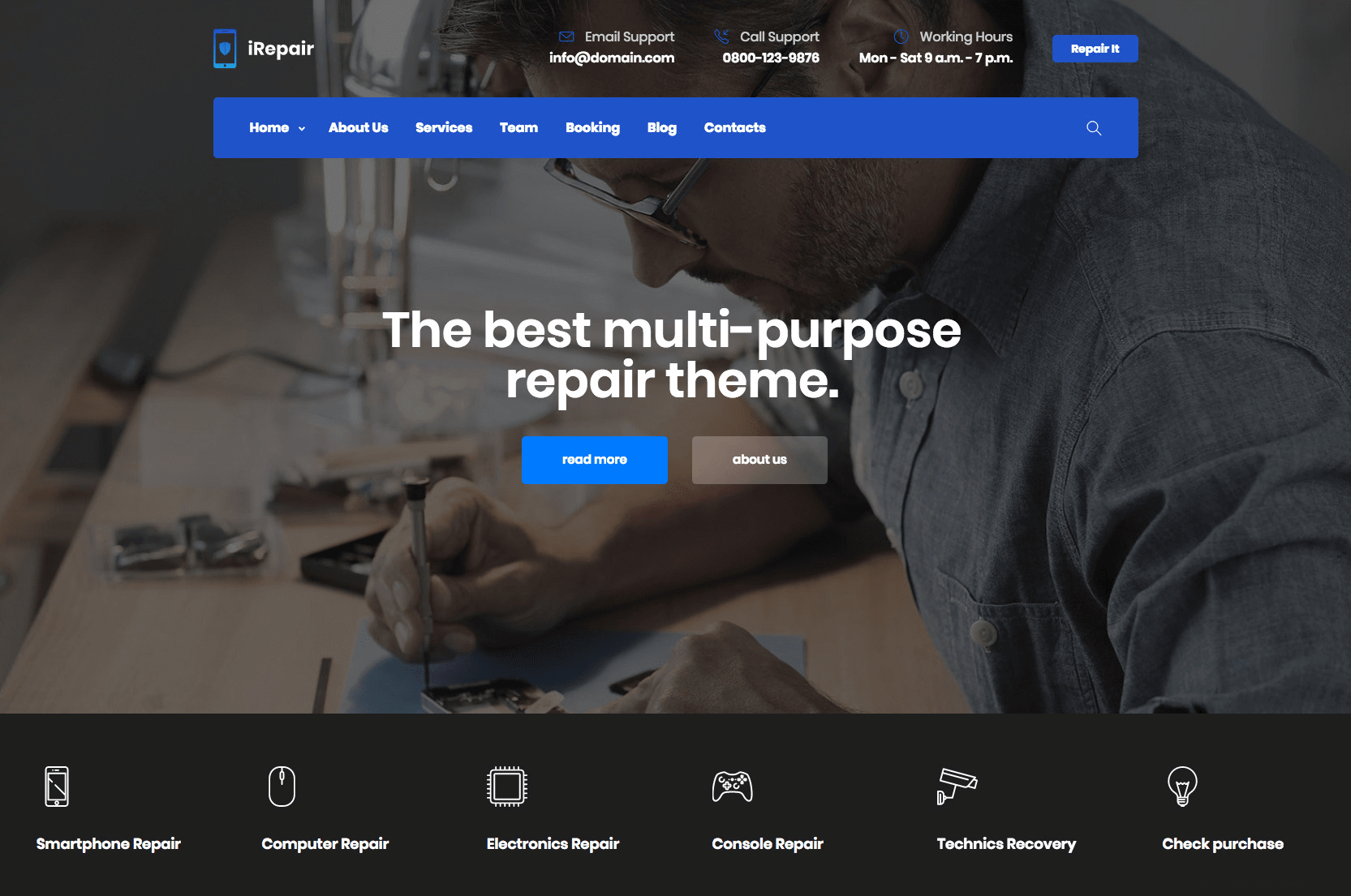 iRepair - Mobile Repair Theme - 2