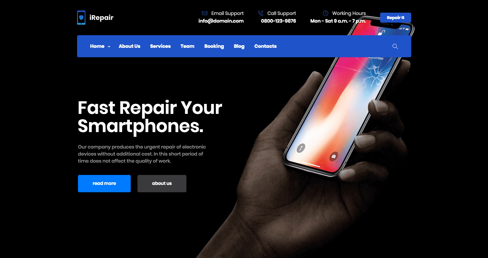 iRepair - Mobile Repair Theme - 3
