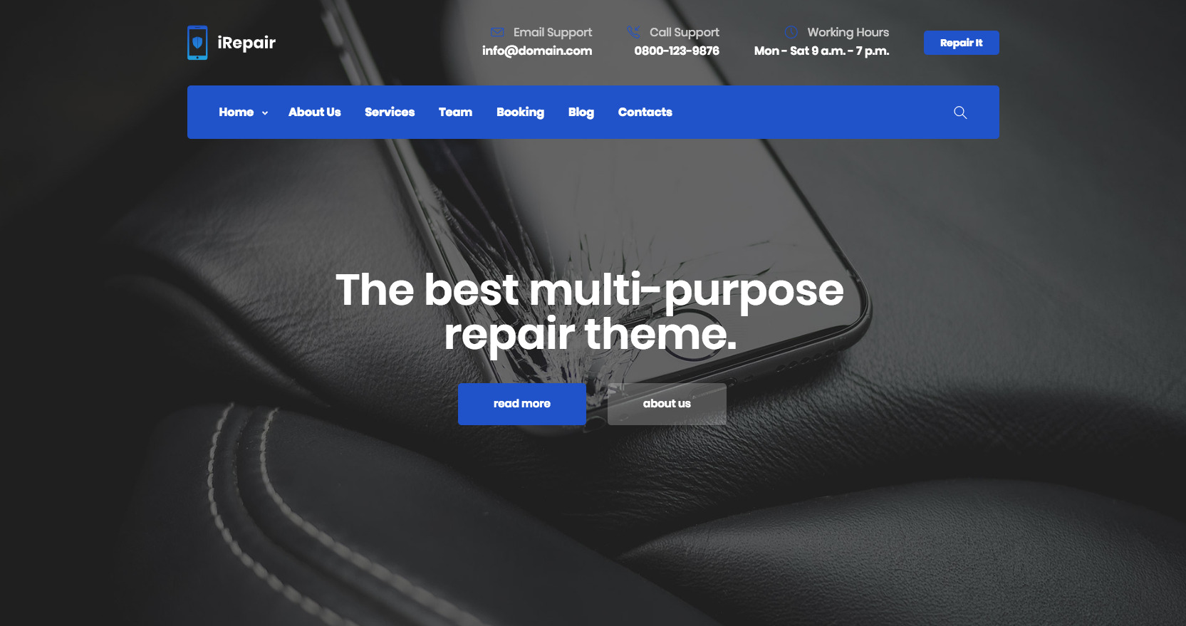 iRepair - Mobile Repair Theme - 4